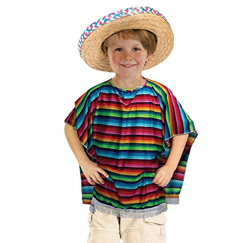 Bristol Novelty CC320 mexikanischen Poncho Kostüm, unisex-child, One -