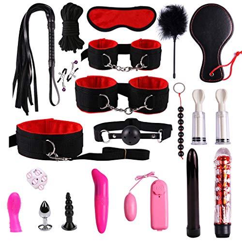 Masoness Vibrierende Peitsche Seil Anzug Anal Butt Plug Vibrator Sex Toys Set Kit für Frauen 19 -