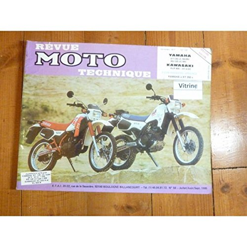 REVUE MOTO TECHNIQUE YAMAHA RD125LC de 1985 YAMAHA DT125LC de 1984 à 1985 KAWASAKI KLR600 A1,B1 RMT0058 - Juillet/Août/Septembre 1985