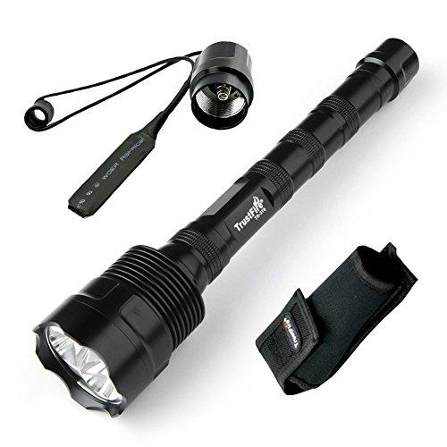 TrustFire Super Brillante de 3800 Lúmenes 3 x CREE XM-L L2 LED,Linterna Con Interruptor a Presión Remoto