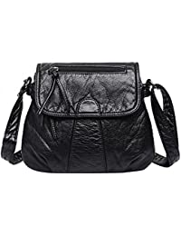 Zibuyu Women Fashion Messenger Bags Crossbody Soft PU Leather Shoulder Bag Handbag