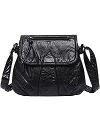 Zibuyu Women Fashion Messenger Bags Crossbody Soft PU Leather Shoulder Bag Handbag