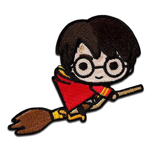 Harry Potter © escoba - Parches termoadhesivos bordados