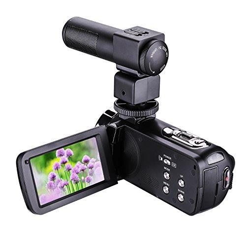 Caméra vidéo de vision nocturne LWD Caméra vidéo numérique 1080P 16X Zoom avec caméscope numérique externe MIC avec caméra professionnelle Micro-casque à cames monté sur caméra Écran tactile LCD 3 pouces (3011)