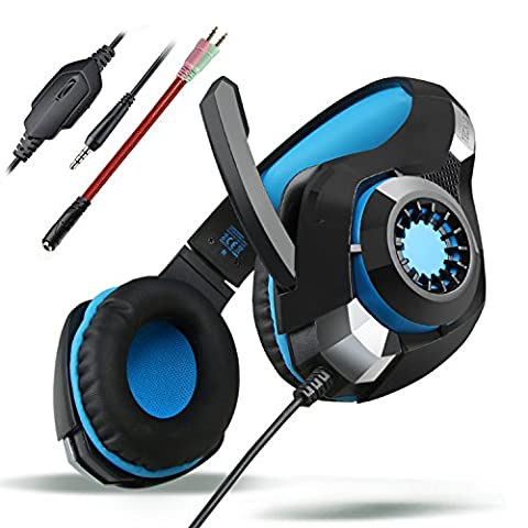 Casque Gaming, TeckNet Casque Gaming Filaire avec Microphone, Illumination RGB, pour Tablettes, PC, Xbox One, PS4