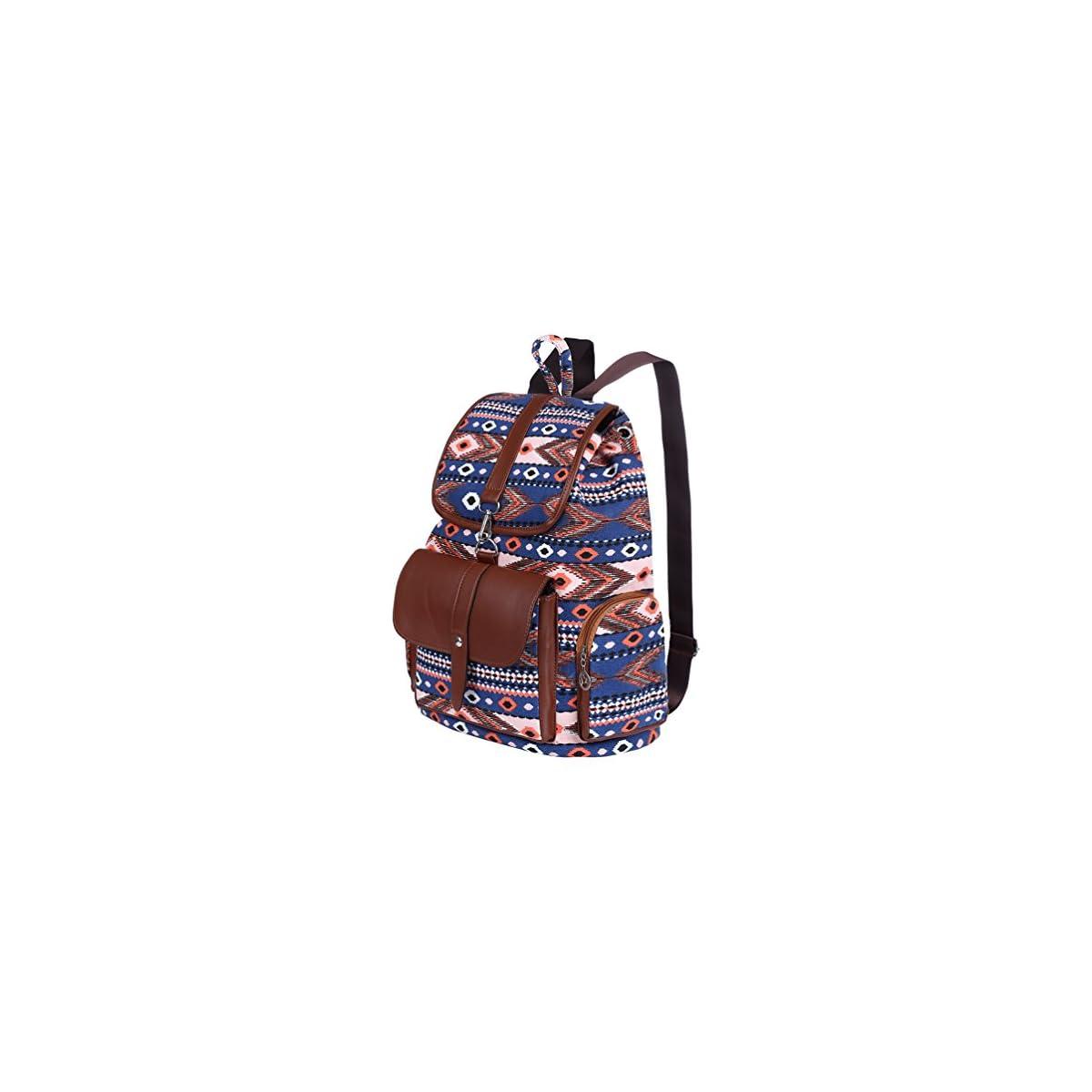 519fFnu3EGL. SS1200  - Vbiger Moda Mochila de Lona con diseño Casual para Mujer Bolsa de Viaje Mochila de a Diario