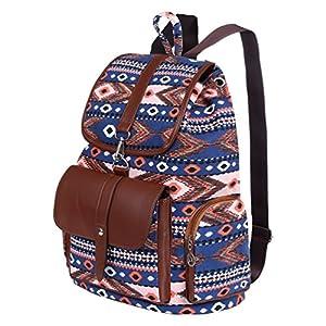 Vbiger Mochila con cordón Mujer Bolsa de Escuela Elegante Mochilas de Viaje clásicas (Azul 2)