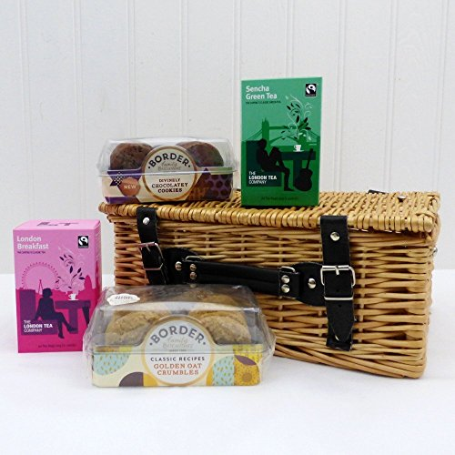 Easter basket gifts amazon classic london tea company tea and biscuits hamper presented in a wicker basket ideas for birthday anniversary and corporate negle Choice Image