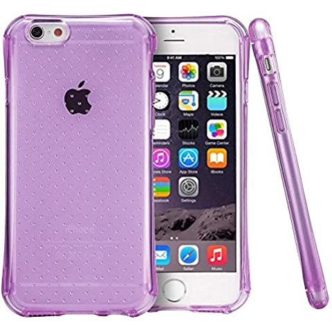 "iPhone 6 / 6S Plus 5.5 ""Air Cushion Case"" Custodia Protettiva con Angoli Rinforzati Cover Morbida e Flessibile in Silicone Tpu Viola - Trasparente Resistente agli urti per iPhone 6 / 6S Plus 5.5 Parubi®"
