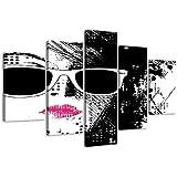 Cuadros en Lienzo 160 x 80 cm Nr. 5518 Fashion pop art enmarcado y listo para colgar, calidad de la marca Visario