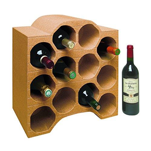CLIMAPOR Flaschenbox Bogenform aus Styropor, terra - für 12 Flaschen max. Ø 9 cm, 1 Stück
