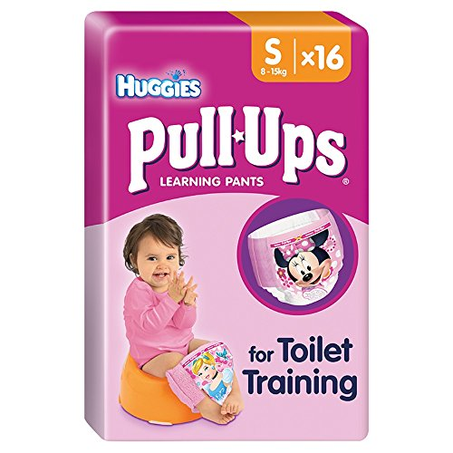 Huggies Pull-Ups Training Pants for Girls, Size S, 16 Pants