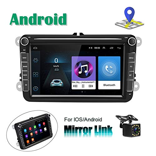 Android Autoradio per VW Navigazione GPS Camecho 8 Touch Screen capacitivo Bluetooth Auto Lettore Stereo WIFI Ricevitore radio FM Dual USB per VW