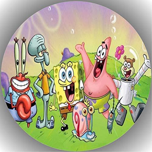 Fondant Tortenaufleger Tortenbild Geburtstag Spongebob T5
