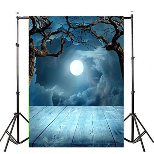VEMOW Heißer Halloween Backdrops Kürbis Vinyl 3x5FT Laterne Hintergrund Blackout Fotografie Studio 90x150cm(Mehrfarbig, - Wolf Prinzessin Kostüm