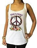 Débardeur en Jersey CND Love and Peace Roses, Fleurs Imprimer JTK1434