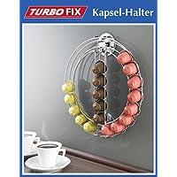 Wenko TurboFIX – Soporte para cápsulas – sin agujeros – Metal dispensador de cápsulas para 24