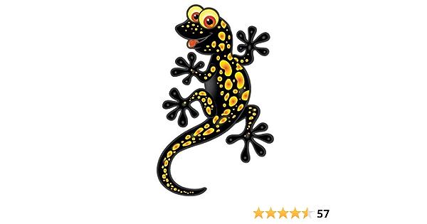 Fahnenmax Autoaufkleber Sticker Lizard Eidechse Gecko Schwarz Aufkleber Auto