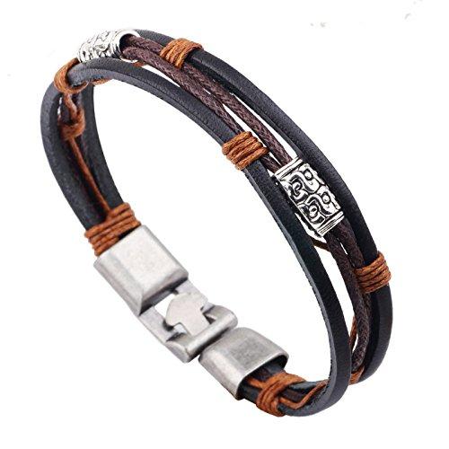 SOLNG Retro-Schmuck, Drei Leder Seil Wachs Linie auf Dem Abzug Armband, Schmuck, Kreative Armband, Schmuck, Kreative Geschenke