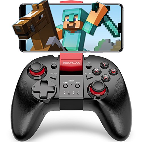 BEBONCOOL Wireless Game Controller Android Controller Handy Gamepad mit Clip Handy Controller für Android Phone/Tablet/TV Box/VR/Emulator Samsung Controller