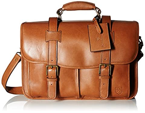 Allen Edmonds Men's Double Flap Briefcase, Tan