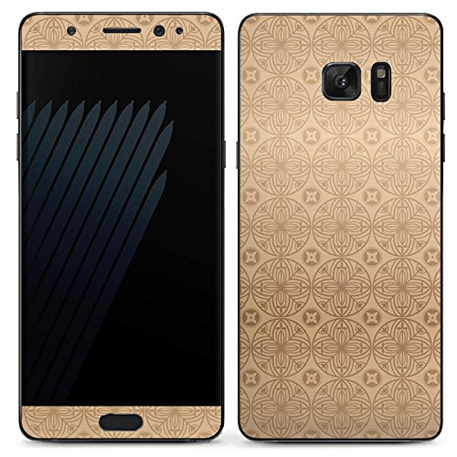 Manor-konsole (Samsung Galaxy Note 7 Case Skin Sticker aus Vinyl-Folie Aufkleber Blume Flower Muster)