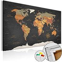 BD XXL murando – Tableau liege avec un vrai châssis bois – 120x80 cm – Tableau en liege – Carte du monde Poster k-C-0048-p-c