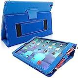 Snugg iPad Air Hülle (Blau) - Smart Cover mit Automatische Schlaf-Spur, Aufsteller, elastischer Handschlaufe, Stylus-Halterung und Premium Nubuck Innenfutter für Apple iPad Air (Blau)