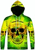 Search : Pizoff Unisex Hip Hop Sweatshirts Hoody With colorful 3D Paint Digital Printing