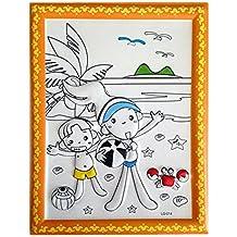 Fai da te per bambini Coloring Palette Tavolo da disegno concavo-convesso con penne [Swim]