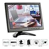 KKmoon, Monitor 10.1 Pollici, Monitor per Videosorveglianza, HD 1280 * 800 Monitor LED IPS con HDMI/VGA/BNC/AV/USB Ports Supporto 1080P/1080i Altoparlante UDisk Pal/NTSC per Telecamera Sorveglianza