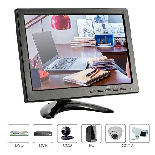 KKmoon 1080p CCTV Monitor 10,1 Zoll Mini LED IPS HD Monitor mit VGA/BNC/AV/USB mit Lautsprecher Eingang Empfängerunterstützen HDM-Interface Festplatte für CCTV Kamera, PC, Überwachungssystem