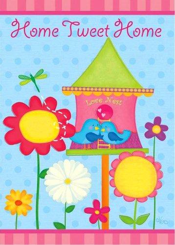 Rain or Shine Home Tweet Home Spring Garden Flagge, Klein 31,8x 45,7cm-Für Veranda Haus Hof Garten Schule Klassenzimmer Bibliothek Vet die Tür Kirche Patio Outdoor Banner Dekorationen Etc.