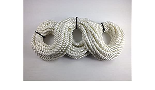 4, 10mm Mooring Rope Boat Rope Polyester 3-Strand Navy Rope Sold by The Metre Marine Rope