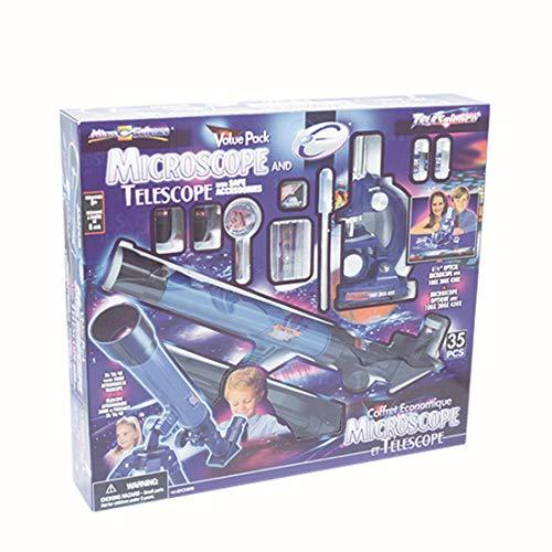 Riva776Yale 100X, 200X, 450X Mikroskop + 20X / 30X / 40X * 30mm Sternenteleskop-Kit -Astronomisches Spielzeug