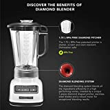 KitchenAid 5KSB1585DWH 615 - Watt 5 Speed Diamond Blender 1.7 Litre - White