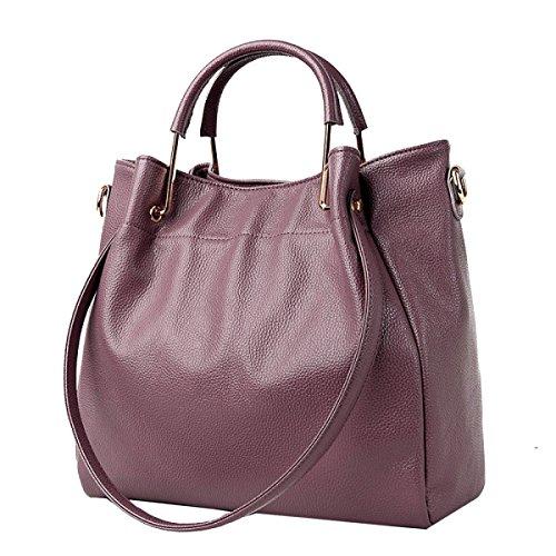 Yy.f Nuove Borse Genuine Nuove Borse Elegante Pratico Interno Multi-colore Esterno Purple