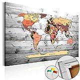 Neuheit! Weltkarte mit Kork Rückwand 90x60 cm - 3 Farben zur Auswahl - einteilig Bilder Leinwandbild Poster Pinnwand Kunstdruck Weltkarte Karte Welt Landkarte Kontinent k-B-0009-p-c 90x60 cm B&D XXL