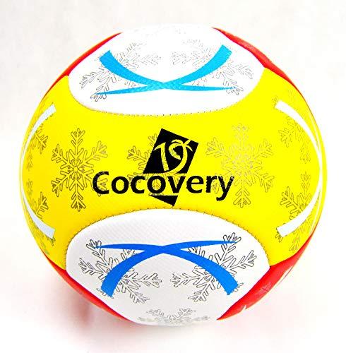 Balón Fútbol para Playa-Foam-Cocovery19 Amarillo
