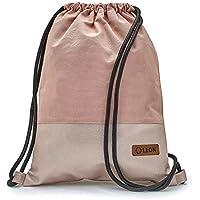 644a0e24ba359 By-Bers LEON Turnbeutel mit Innentaschen Rucksack Tasche Damen Herren    Teenager Gymbag Gymsack