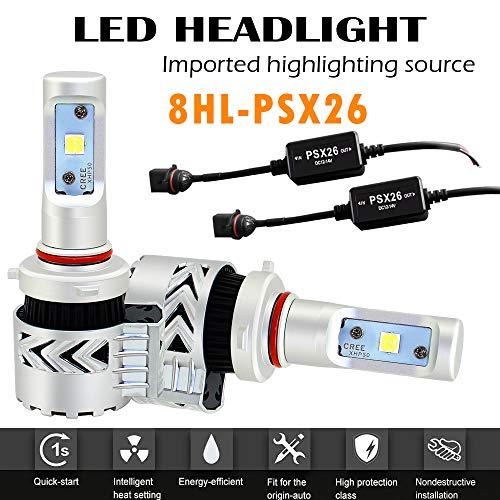 Ampoules phare LED 9004 HB1 Conduire lampe brouillard Feux de croisements et feux de route PHILIPS chips 12000LM 6500K /éclairage blanc pur avec Kit de conversion remplacement des ampoules dorigine