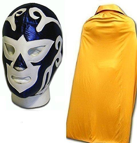 HURACAN RAMIREZ mexikanischen Wrestlers Erwachsene Mexican Wrestling Maske W/Gold - Wrestling-cape Mexikanische