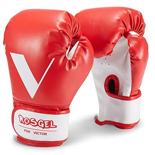 rosgel Kinder Boxhandschuhe, Training Boxhandschuhe für 3-7 Jahre, Kinder Boxen, Kickboxen, Muay Thai Mitts MMA Training Handschuhe