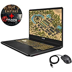 "Asus TUF765GM-EV149T-G PC Portable Gamer 17,3"" Dalle 144 Htz Gris métal (Intel Core i7, 8 Go de RAM, 1 to + SSD 256 Go, Nvidia GeForce GTX1060 6 Go, Windows 10) Clavier AZERTY Français"