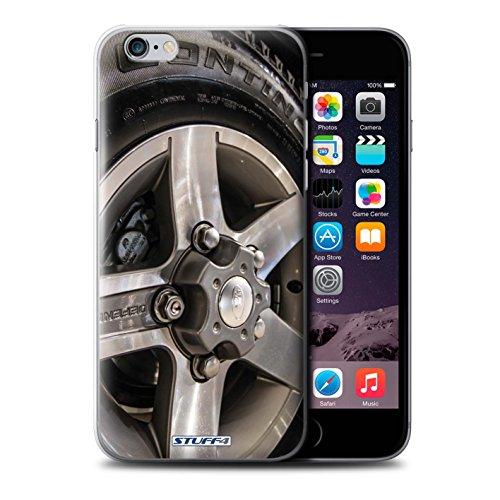 Stuff4 Hülle / Case für Apple iPhone 7 Plus / Silber/Rot Muster / Leichtmetallfelgen Kollektion Grau/Silber