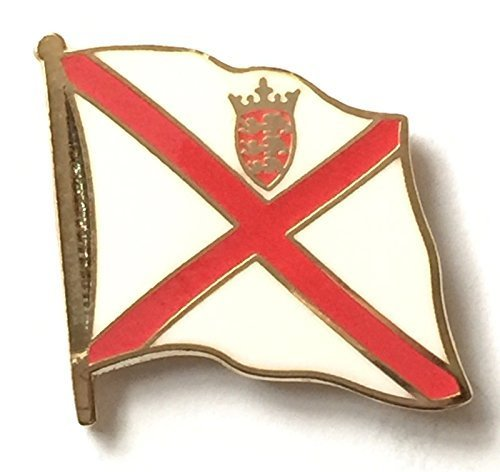 Jersey National Flagge vergoldet Emaille Pin-Anstecker - Jersey-abzeichen