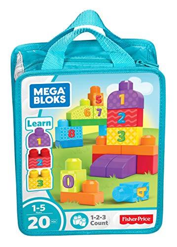 Mega Bloks Bolsa de bloques de construcción 1,2,3, juguete...