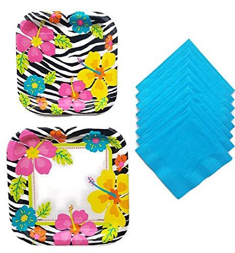 Wild Lunch Kuchen und Luau Party Serviette Papier Bundle für 8Gäste -