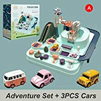 Feature:Safe And Environmentally Friendly: ABS material, Made of food grade material, environmental protection, non-toxic and durable,Enhance and expand play with connectableConvenient,power saving: Garage no need requires batteries,and tow truck ...