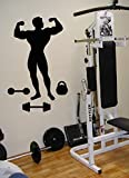 Sport culturiste Appareil d'entraînement gymnastique Muscle Force pour chambre enfants élégant Vinyle autocollant mural Art Mural